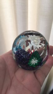 paperweight with flowers